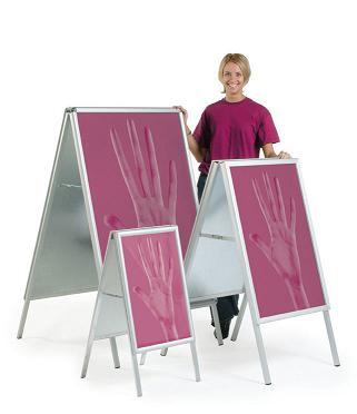 A-frames for display boards