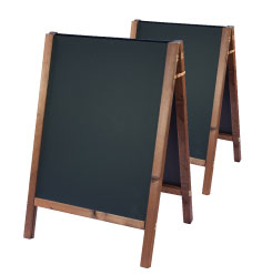 Square top reversible chalkboard